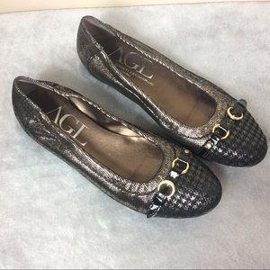 Agl Shoes - AGL Cap Toe Ballerina Flats Sz 8